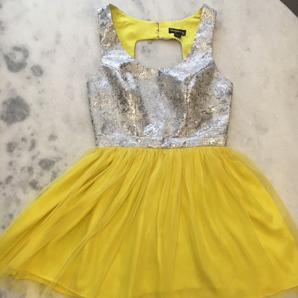 Yellow and Silver Dresses